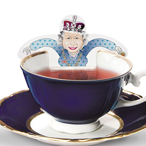 RoyalTea Royalty Tea Bags Gift Set with the Royal Wedding Family Figures, Prince William, Charles, - Tea Royal Cup