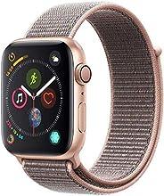 Apple Watch Series 4, 40 mm, Alumínio Dourado, Pulseira Esportiva Loop Rosa e Fecho Ajustável - Mu692bz/a