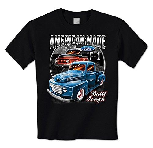 Built Ford Tough Truck (Ford F-1 American Made Built Tough - Classic Trucks Mens T-Shirt Medium Black)