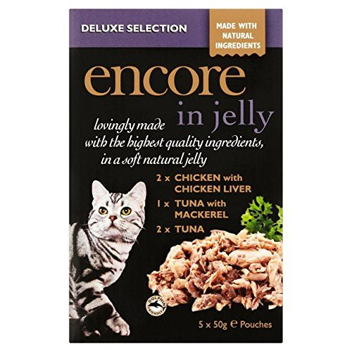ENCORE Deluxe Selection Cat Pouch in Jelly 5 x 50g (Pack of 6) by ENCORE