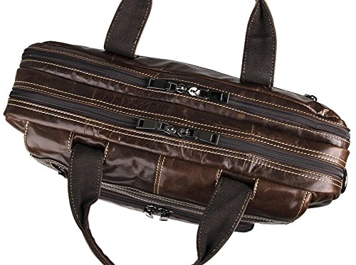 Genda 2Archer Echtlederhandtasche Männer Laptop Business-Aktentasche Messenger Bag