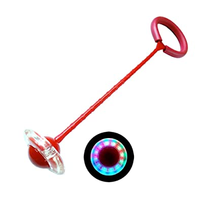 Children LED Flashing Jumping Rope Ball Colorful Ankle Skip Jump Ropes Sports Swing Ball Toys Fun Playground Sports Kits (Red): Home Improvement [5Bkhe2001913]