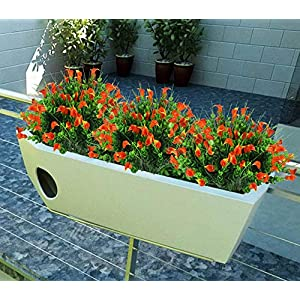 E-HAND Lily Fake Flowers Outdoor UV Resistant Artificial Plants Faux Shrubs Calla Plastic Cemetery Greenery 2