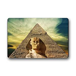 Egypt Pyramid Background Doormat/Gate Pad for outdoor,indoor,bathroom use!23.6inch(L) x 15.7inch(W)