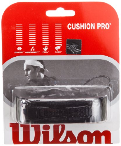 Wilson Sporting Goods Cushion Pro Tennis Racket Replacement Grip, Black