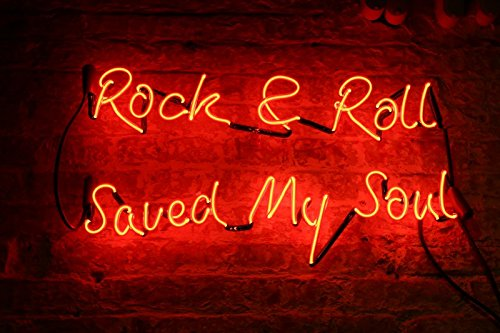 Mirsne neon signs, glass tube neon lights, 24'' by 20'' inch Rock & Roll neon signs bar, the best neon sign custom suppli