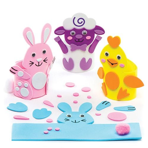 Easter Egg Cup Kits For Kids Perfect For Children's Arts, Crafts And Decorating For Boys And Girls (Pack of (Easter Bunny Crafts For Preschoolers)