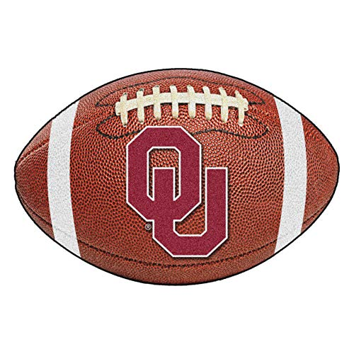 FANMATS NCAA University of Oklahoma Sooners Nylon Face Football Rug