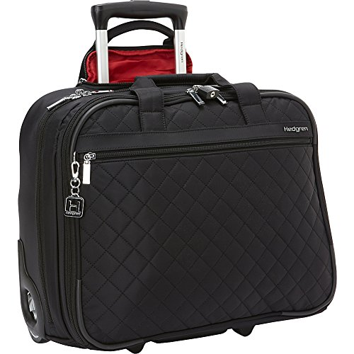 - Hedgren Cindy Business Briefcase with Wheels, Rolling Trolley Bag, 15.6 Inch Laptop Compartment, 17.3 x 7 x 13.8 Inches, Womens, Black