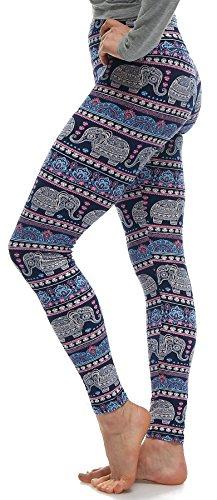 Leggings Fashion (LMB Lush Moda Extra Soft Leggings with Designs- Variety of Prints - 746YF)