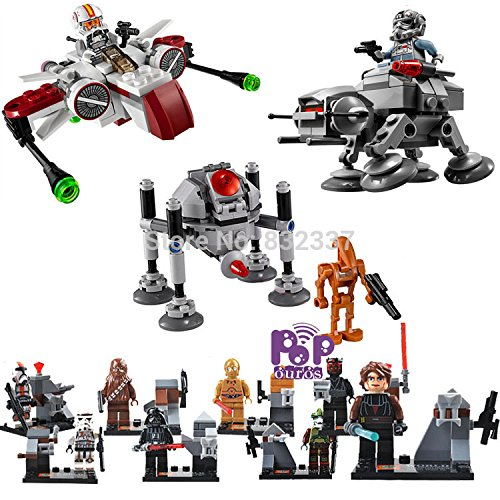 [New 11pcs/lot ABS SW Building Blocks With Airship Minifigures Space Wars Bricks] (Pop Art Inspired Costumes)