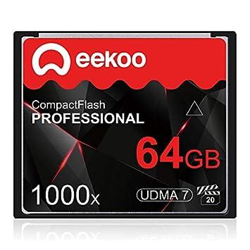 ZHU Tarjeta de Memoria For cámara réflex Digital 64GB 1000X ...