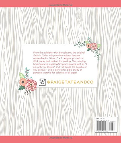 Amazon Faith In Color An Adult Coloring Book Premium Edition Christian Journaling Lettering And Illustrated Worship 9781944515133