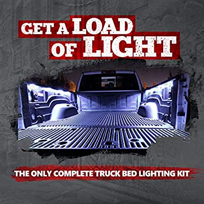 OPT7 Aura PRO Wireless Bluetooth 8pc Truck Bed LED Lighting Kit - OE-Style Rocker Switch - Sound Activated Multi-Color Lights - 1 Yr Warranty- iOS & Android: Automotive