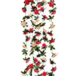 Mikash-5pcs-s-82-FT-Fake-Plastic-Fabric-Silk-Artificial-Rose-Flower-Wisteria-Ivy-Hanging-Vine-Garland-for-Home-Wedding-Table-Tion-Pink-03-Model-WDDNG-1254
