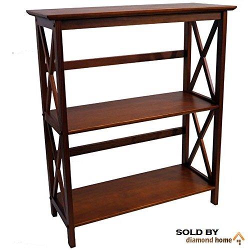 Walnut Brown Montego Horizontal Bookcase