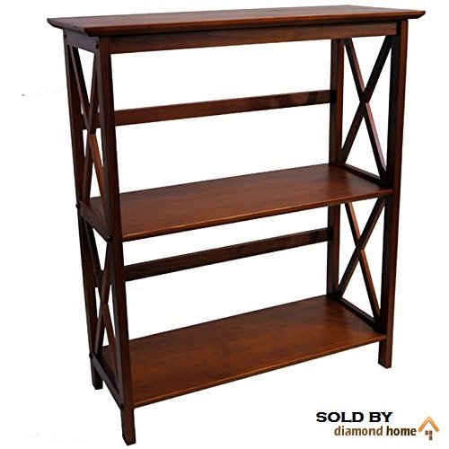 Walnut Brown Montego Horizontal Bookcase – This Mid Century Shabby Chic Modern Walnut Bookcase Features 3 Tier Shelves 51UYjmsy 2B3L