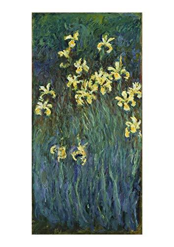 Spiffing Prints Claude Monet - Yellow Irises - Large - Matte - Unframed ()