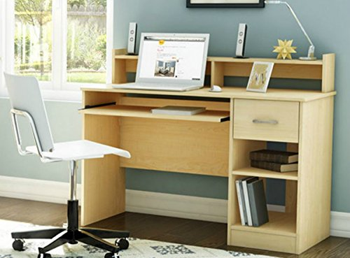 Price comparison product image South Shore Small Desk - Great Writing Desk for Your Child - The Computer Desk Is Great for Your Kid's Bedroom or Any Small Area- Place a Laptop in This Study Table - 5 Years Warranty! (Natural Maple)