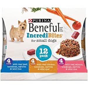 Beneful IncrediBites (Beef, Chicken, & Salmon Variety Pack) - Wet Dog Food - 3oz cans (2 Box of 12)