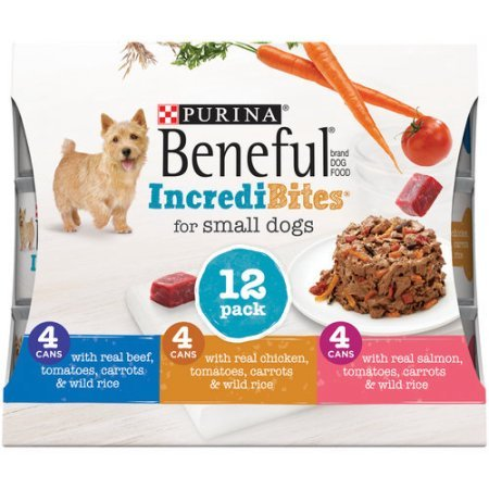 Beneful IncrediBites (Beef, Chicken, & Salmon Variety Pack) - Wet Dog Food - 3oz cans (3 Box of 12)
