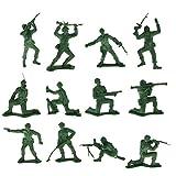 MagiDeal 12pc/set Plastic Soldier Figures Simulation Decoration Kids Toys