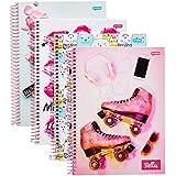 Caderno de 1 Matéria, Jandaia 65496, Multicor, Pacote com 4 Unidades