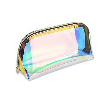 Amazon.com: Bolsa de maquillaje holográfica de TPU para ...