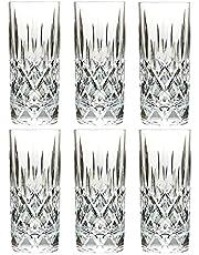 13.5 Oz Set of 6 Plastic Drinking Glasses Dishwasher Safe BPA Free Unbreakable Juice Glasses Acrylic Tumblers Reusable Highball Water Glasses