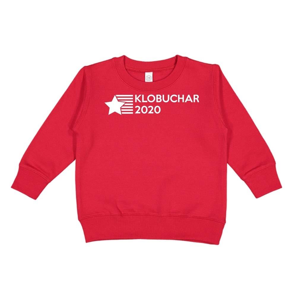 Presidential Election 2020 Toddler//Kids Sweatshirt Star//Stripes Mashed Clothing Klobuchar 2020