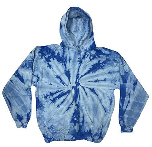Colortone Tie Dye Hoodie 14-16(LG) Spider Baby Blue