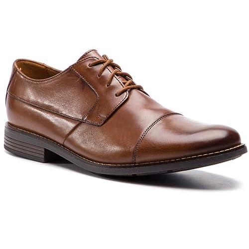 4fdb33c17aaa1 Clarks Men's Becken Cap Derbys, Brown (Tan Leather 9 UK: Amazon.co ...