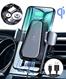 VANMASS Qi Wireless Car Charger Mount, Automatic Clamping, 10W/7.5W Fast Charging, Air Vent Motorized Cell Phone Holder for Car Compatible with iPhone Xs Max XR 8 Plus, Samsung S10 S9 S8, LG V30, etc