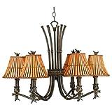 Kenroy Home 90456BH Kwai 6 Light Chandelier, Bronze Heritage Finish