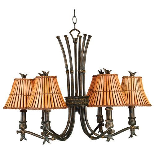 - Kenroy Home 90456BH Kwai Chandelier, 6 Light, Bronze Heritage Finish