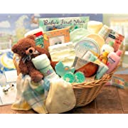 Deluxe Pink Welcome Home Baby Gift Basket