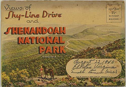 Sky-Line Drive & Shenandoah National Park Virginia - 1938 Asheville Souvenir Linen Postcard Folder