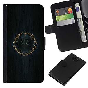 // PHONE CASE GIFT // Moda Estuche Funda de Cuero Billetera Tarjeta de crédito dinero bolsa Cubierta de proteccion Caso Samsung ALPHA G850 / LOTR Ring /