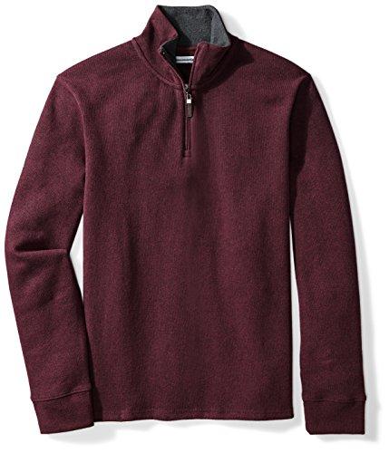 Amazon Essentials Men's Quarter-Zip French Rib Sweater