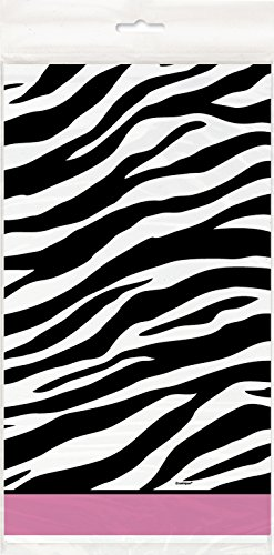 Zebra Print Plastic Tablecloth, 84