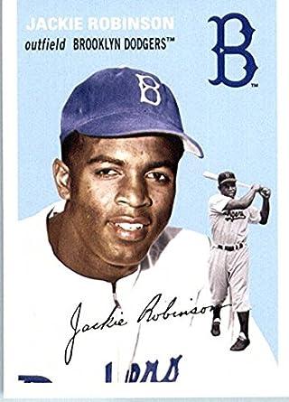 Amazoncom Jackie Robinson Baseball Card Brooklyn Dodgers 2012