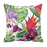 TYYC New Year Gifts for Home Popular Designer Floral Pattern Printed Single Cushion Cover - 12x12 inches