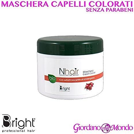Máscara pelo sin parabeni varias funciones 500 ml Bright profesional para peluquería: Amazon.es: Belleza