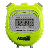 Marathon ADANAC 3000 Digital Stopwatch Timer, Water Resistant, Battery Included (Neon Green)