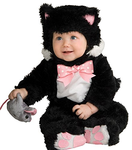 [UHC Baby's Inky Black Kitty Jumpsuit Infant Newborn Halloween Costume, 0-6M] (Kitty Newborn Baby Costumes)