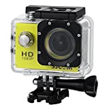 OLSUS Video Camera -Yellow Outdoor Sports Digital Camera 1080P Waterproof Video Camera