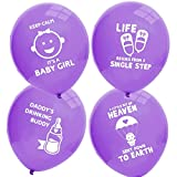 Ava & Kings Baby Shower Balloons Decoration Party Set - Baby Girl Purple - 32pc