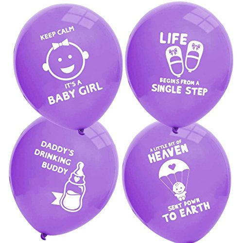 Ava U0026 Kings Baby Shower Balloons Decoration Party Set   Baby Girl Purple    32pc