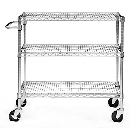 Cart Open Wire (Trinity EcoStorage 3-Tier NSF Chrome Cart)