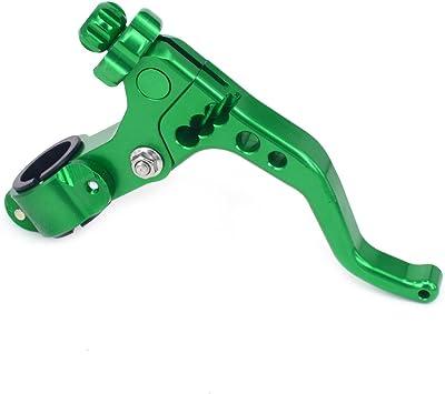 CNC Billet Short MX Pivot Short Perch Clutch Lever for Motorcross Pit Bike Green